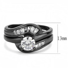 Load image into Gallery viewer, 1 Wedding Set Unique Designer Replica Ring in Black ION Plating - Newest - Travel Jewelry