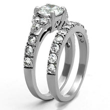 Load image into Gallery viewer, 1 Wedding Set -Stainless Steel Clear April Birthstone