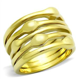 Gold Stainless Stacked Band