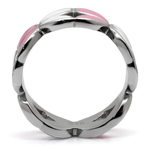 Pink and White Enamel Band Stainless Steel
