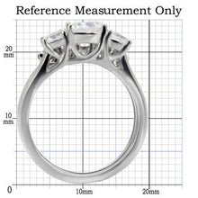Load image into Gallery viewer, 1 Wedding Set - Stainless Steel Ring High polished (no plating) Women Clear