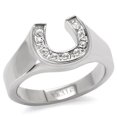 Stainless Horseshoe Ring