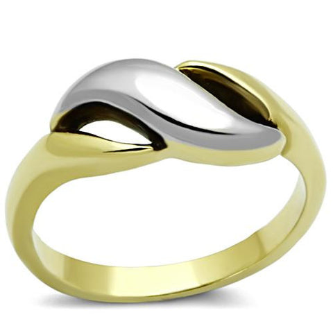 Two-Tone Stainless Minimalist Ring