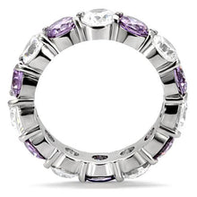 Load image into Gallery viewer, Amethyst/Tanzanite & Crystals -Band -Wedding - February Birthstone Ring