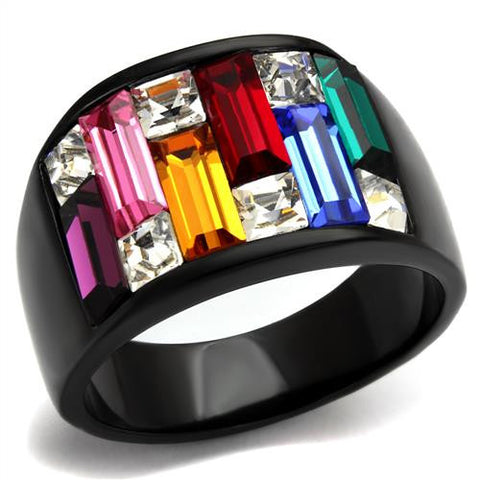 Stainless Black IP Kaleidoscope Ring