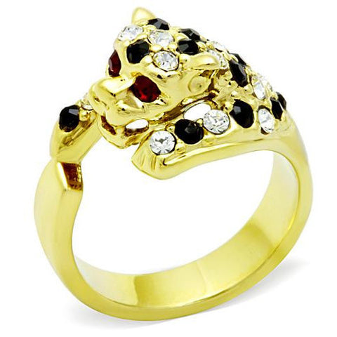 IP Gold Replica Panther Ring