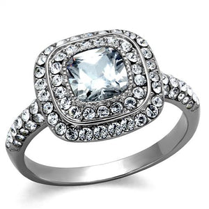 Stainless Double Halo Ring Designer Replica Newest