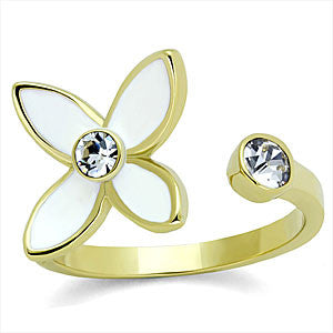 Gold Designer Isprired Flower Ring