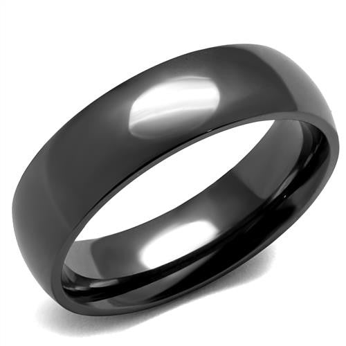 Gunmetal Black Stainless Band Ring Men's and Women