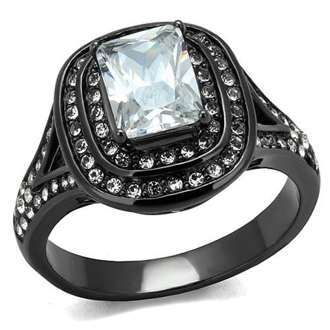 Gunmetal Black Stainless Engagement Ring