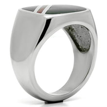 Load image into Gallery viewer, Men's Stainless Steel Comfort Fit Classic Signet Ring with Black Onyx Simulation