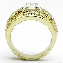 Load image into Gallery viewer, Impressive Oval Clear Crystal adorned in Halo Design - IP Gold -April Birthstone - Newest