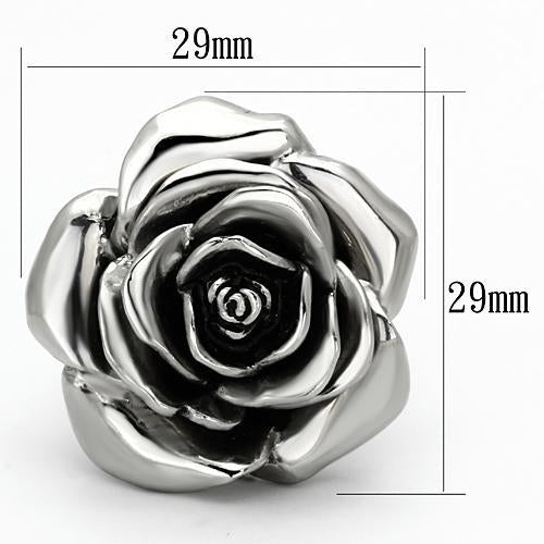 Large Flower-Stainless Steel Ring