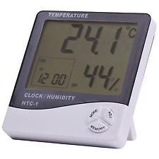 Thermo Hygrometer Clock - Thermometer Temperature Humidty - Digital Series HTC-1