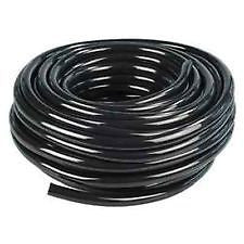 IWS PIPE 16MM 15M ROLL BLACK PVC PLASTIC FLEXIBLE TUBING HYDROPONICS