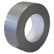 Duck SILVER strong Duct Gaffa Gaffer Waterproof Cloth Tape 48mm  x 50m quality