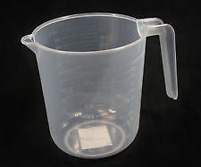 1 LITRE PLASTIC JUG - KITCHEN HOMEBREW LIQUIDS STACKABLE - 1000ml