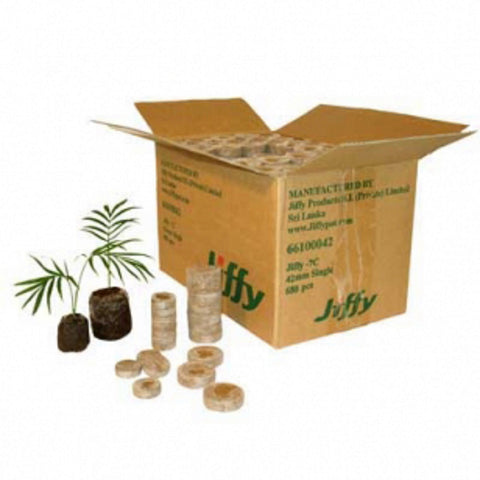 JIFFY 24mm box of 50x PEAT PLUG PROPAGATION PELLETS Seeds, Vegetables/ Fruits