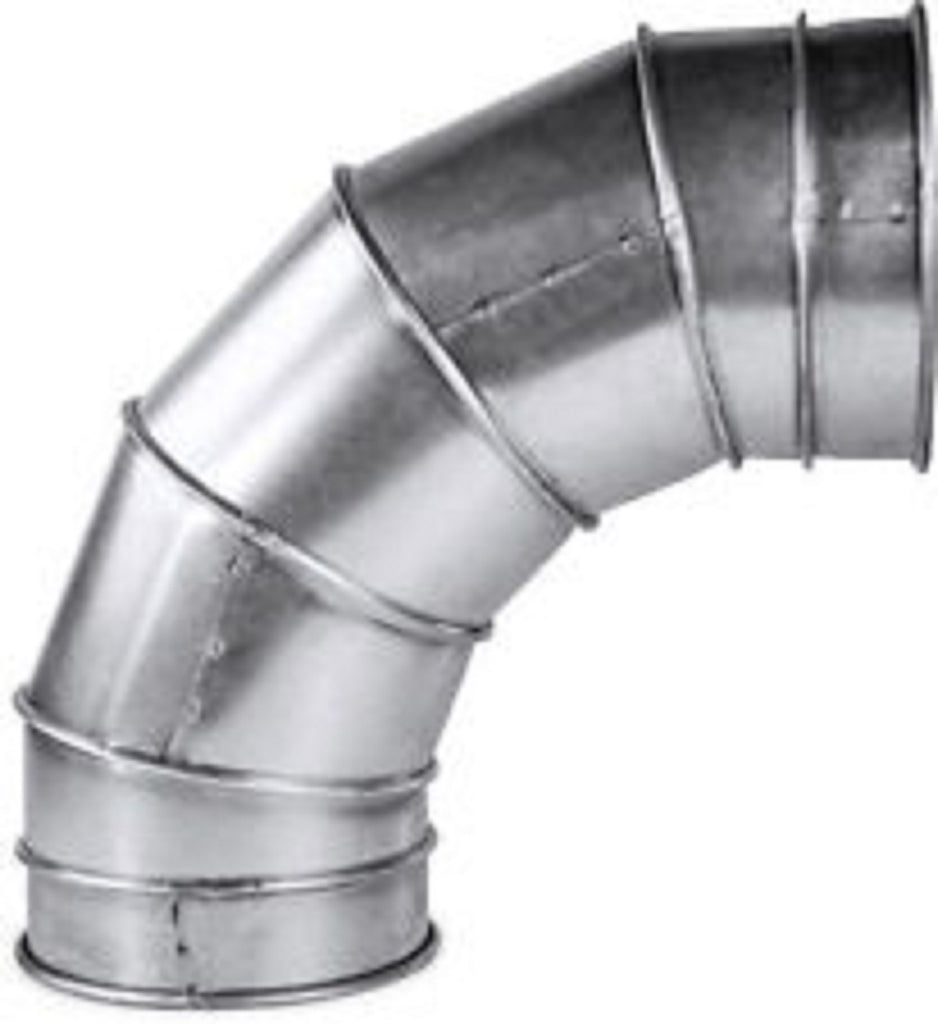 "METAL Ducting 90 Degree Bend Connector Flexible Fan Hydroponics "" 6"""