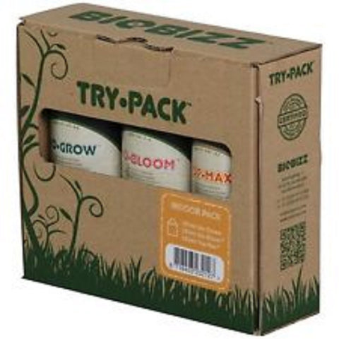 BioBizz Indoor Try Pack - Bio Grow, Bloom, Top Max 250ml *ORIGINAL* Non-Decanted