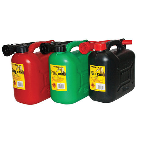 5 Litre Black Fuel Can & Flexible Spout
