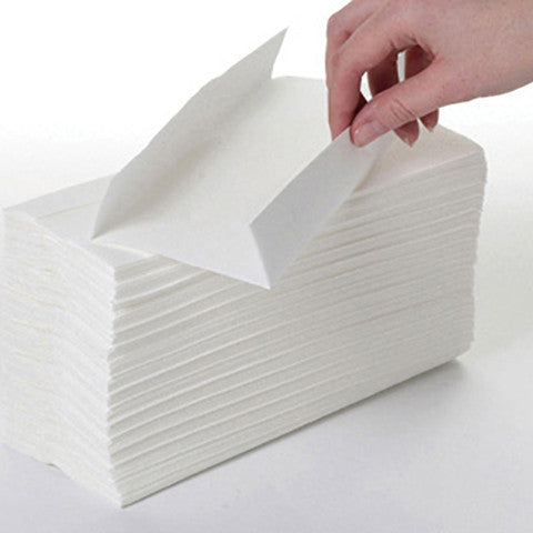 1Ply White C Fold Paper Towel