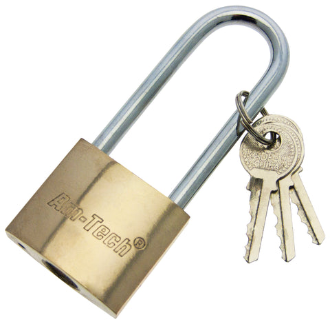 brass Padlock with long shackle