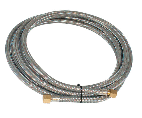 5M Braided Gas Hose complete with fittings