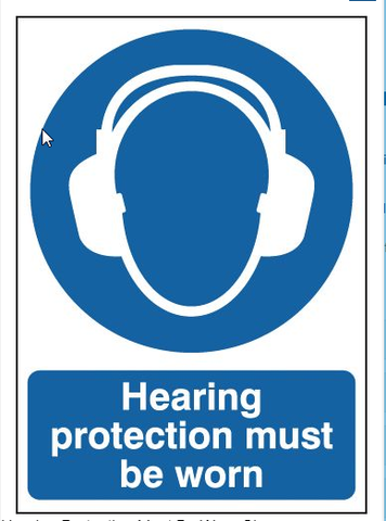 A3 Safety Signs Hearing Protection Must Be Worn