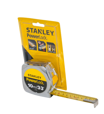 Stanley 10m power lock tape measure