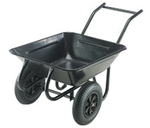 twin wheel wheelbarrow
