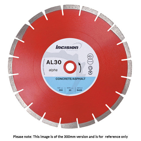 AL30-350/25 - Alpha Range Diamond Blade for concrete and Asphalt