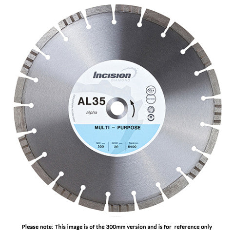 AL35-300/20 -Alpha Range Multi-Purpose Diamond Blade
