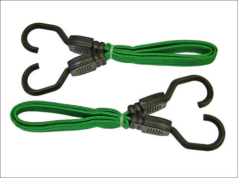 "Green 2 Peice 24"" Bungee Cord Set"