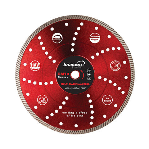 GM10 - Gamma Range Multi-Hard/Steel Cutting Diamond Blade