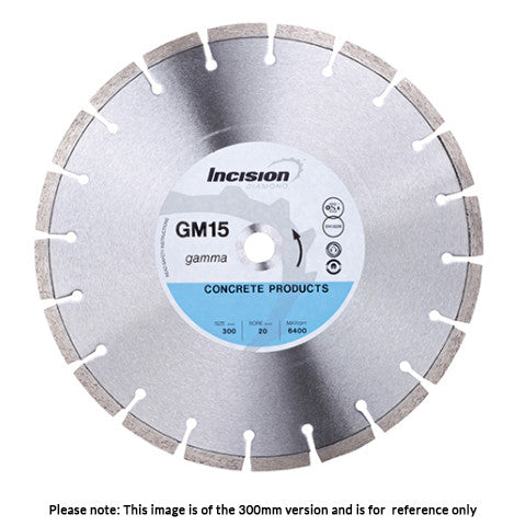 GM15 - Gamma Range Incision Concrete Products Diamond Blade