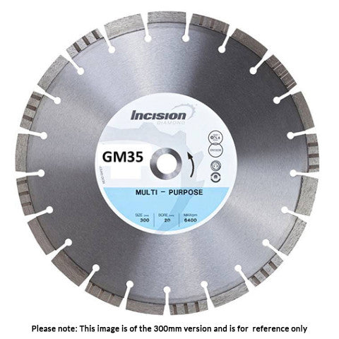 GM35 - Gamma Range Concrete and Asphalt Multi Purpose Diamond Blade