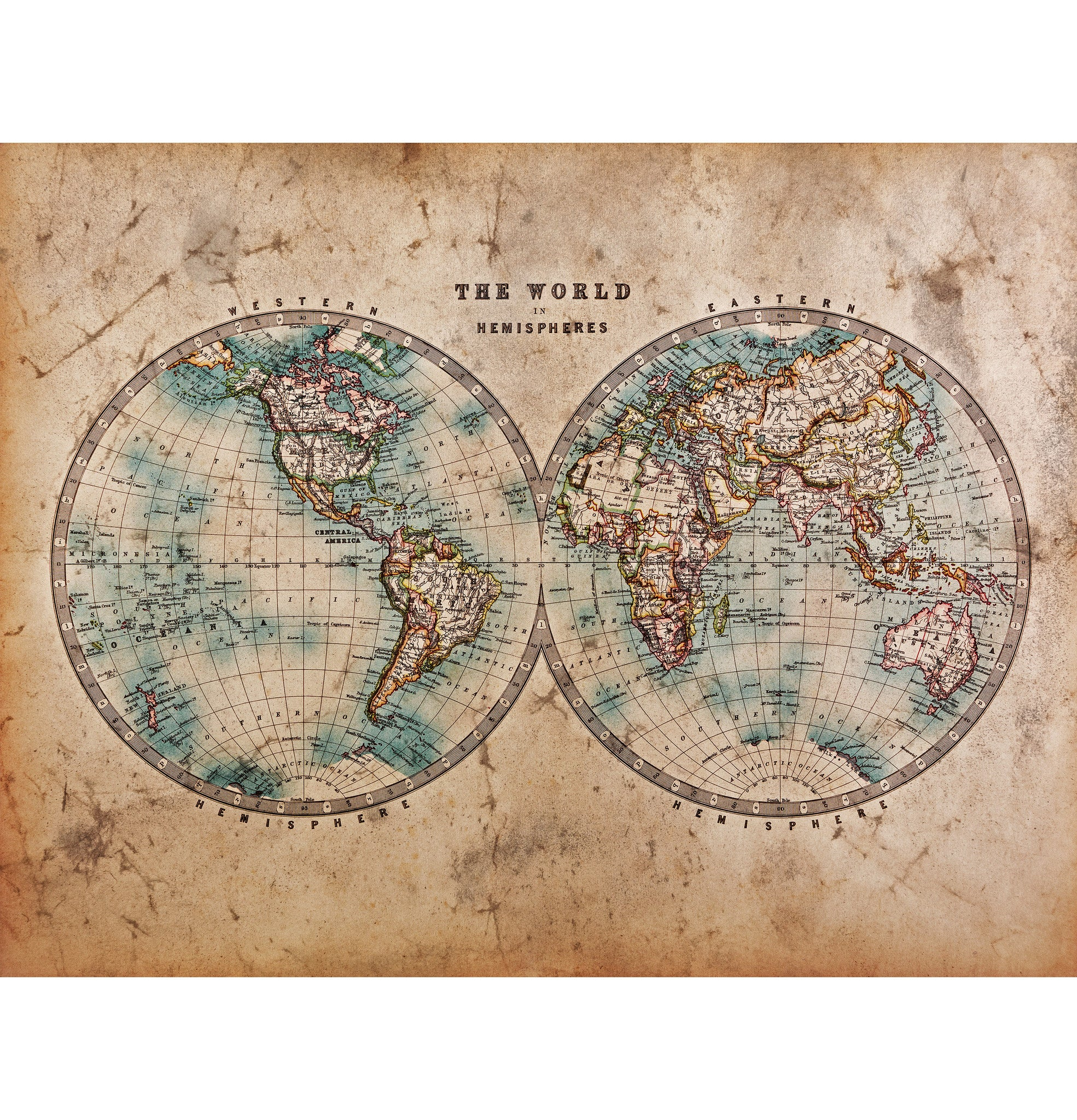 Vintage printing large format print bespoke wall art london antique maps for print london sciox Gallery