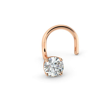 14k Rose Gold Left Screw