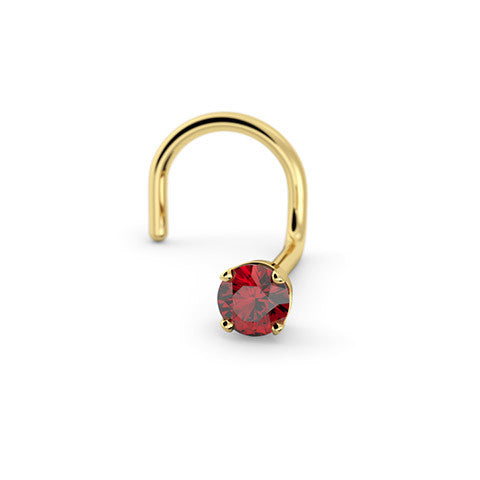 2mm Ruby Nose Stud Alluring Body