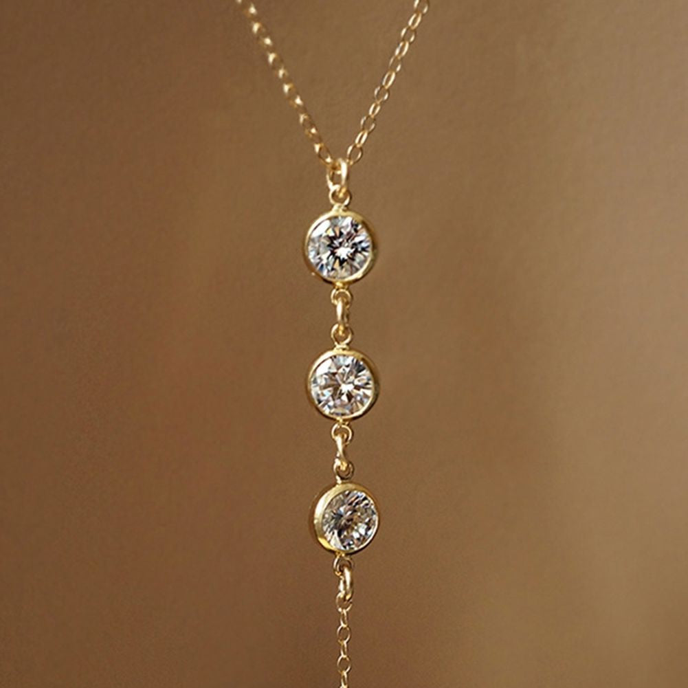 Carla Crystal Back Body Chain Necklace