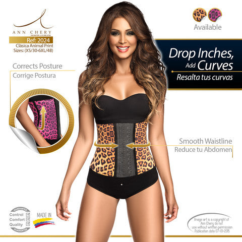 Animal Print Latex Workout 2-Hook Waist Trainer by Ann Chery 2024
