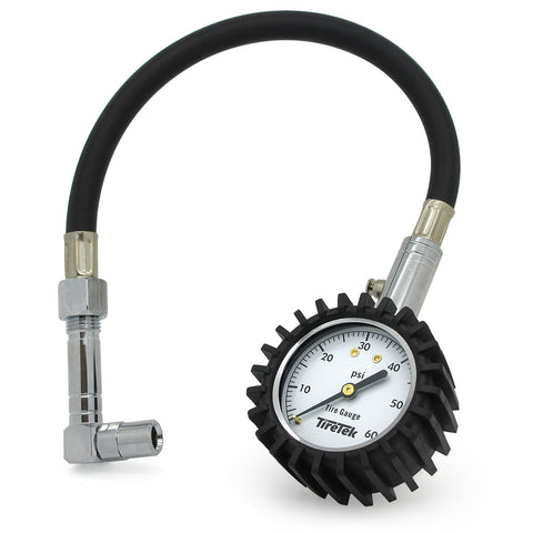Flexi-Pro Tire Pressure Gauge - 60 PSI (Right Angle & Straight Chucks) product image