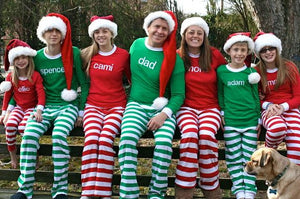 Family Christmas Pictures.A Adult Christmas Pajamas Family Christmas Pajamas Red And White And Green And White