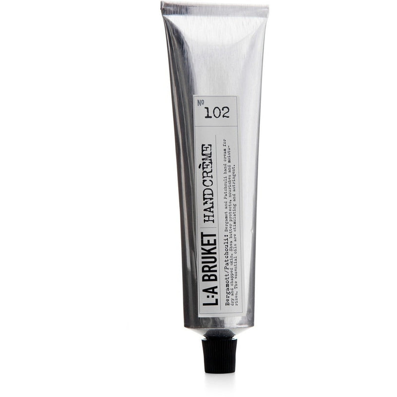 L:A Bruket No:102 Protecting & Calming Bergamot Patchouli Hand Cream - Burrows and Hare