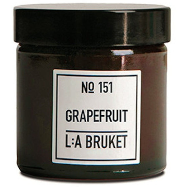 L:A Bruket No.151 - Soy Wax Grapefruit Scented Candle - Burrows and Hare