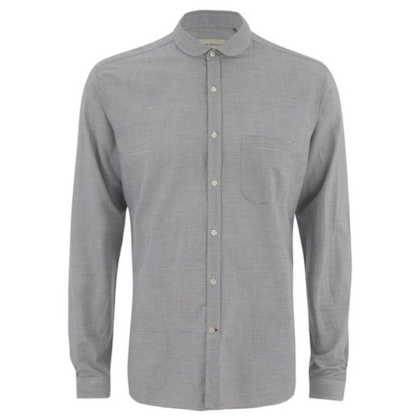 Oliver Spencer Eton Collar Shirt Broadstone Navy - Burrows and Hare