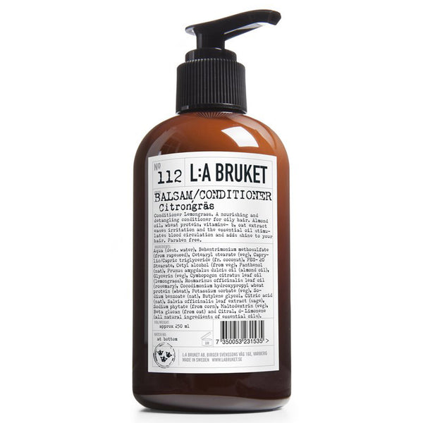 L:A Bruket No.112 - Lemongrass Conditioner - Burrows and Hare
