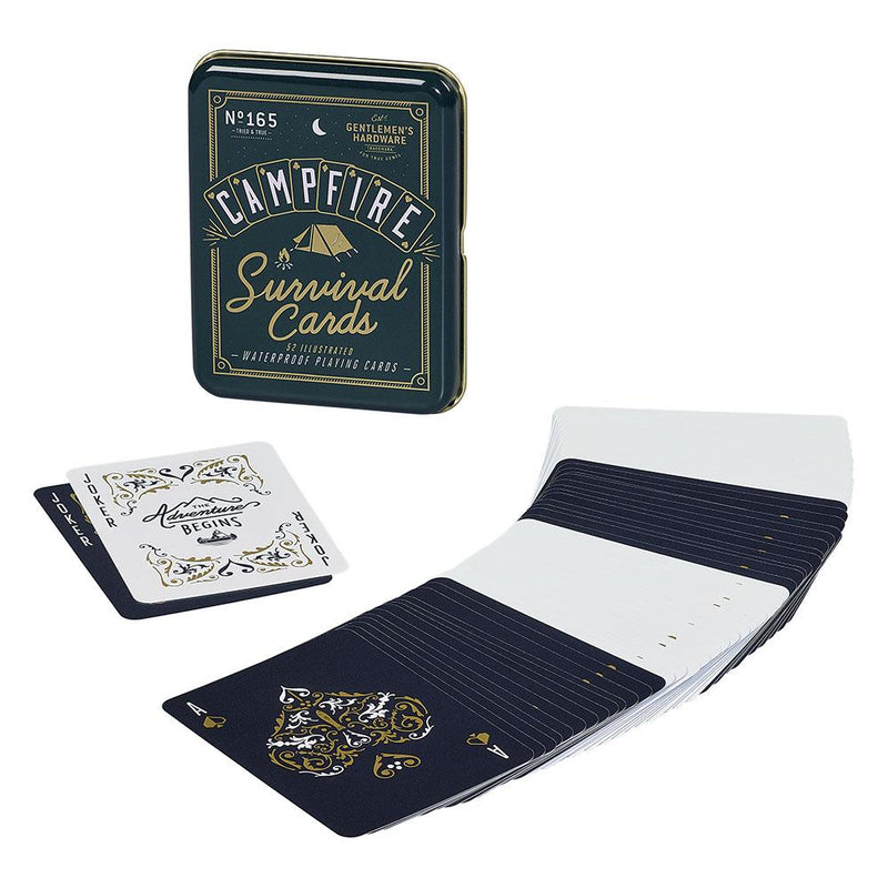 Gentlemen's Hardware Campfire Survival Playing Cards - Burrows and Hare