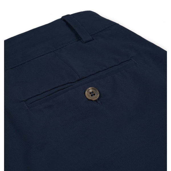 Sunspel Navy 5 Pocket Garment-Dyed Cotton Twill Chinos - Burrows and Hare